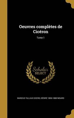 FRE-OEUVRES COMPLETES DE CICER