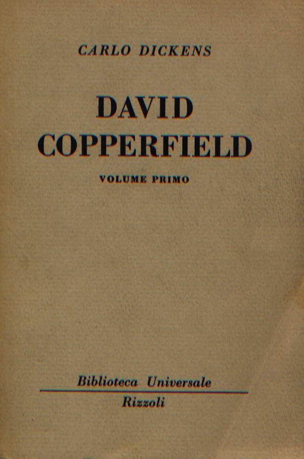 David Copperfield - Vol. Primo