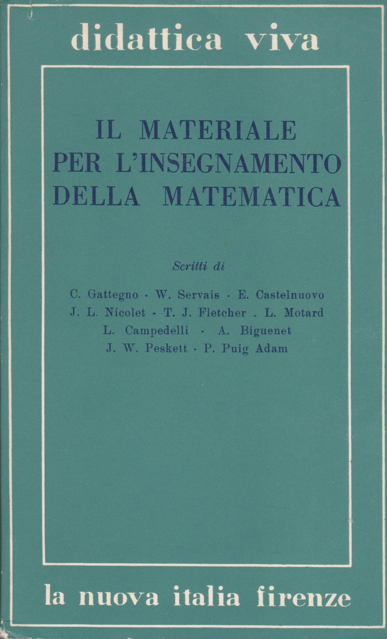 Il materiale per l'insegnamento della matematica