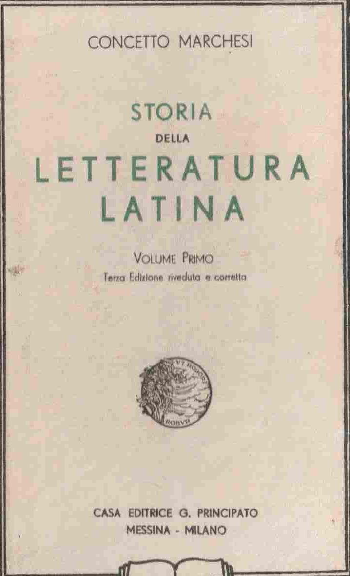 Storia della letteratura latina - vol. 1