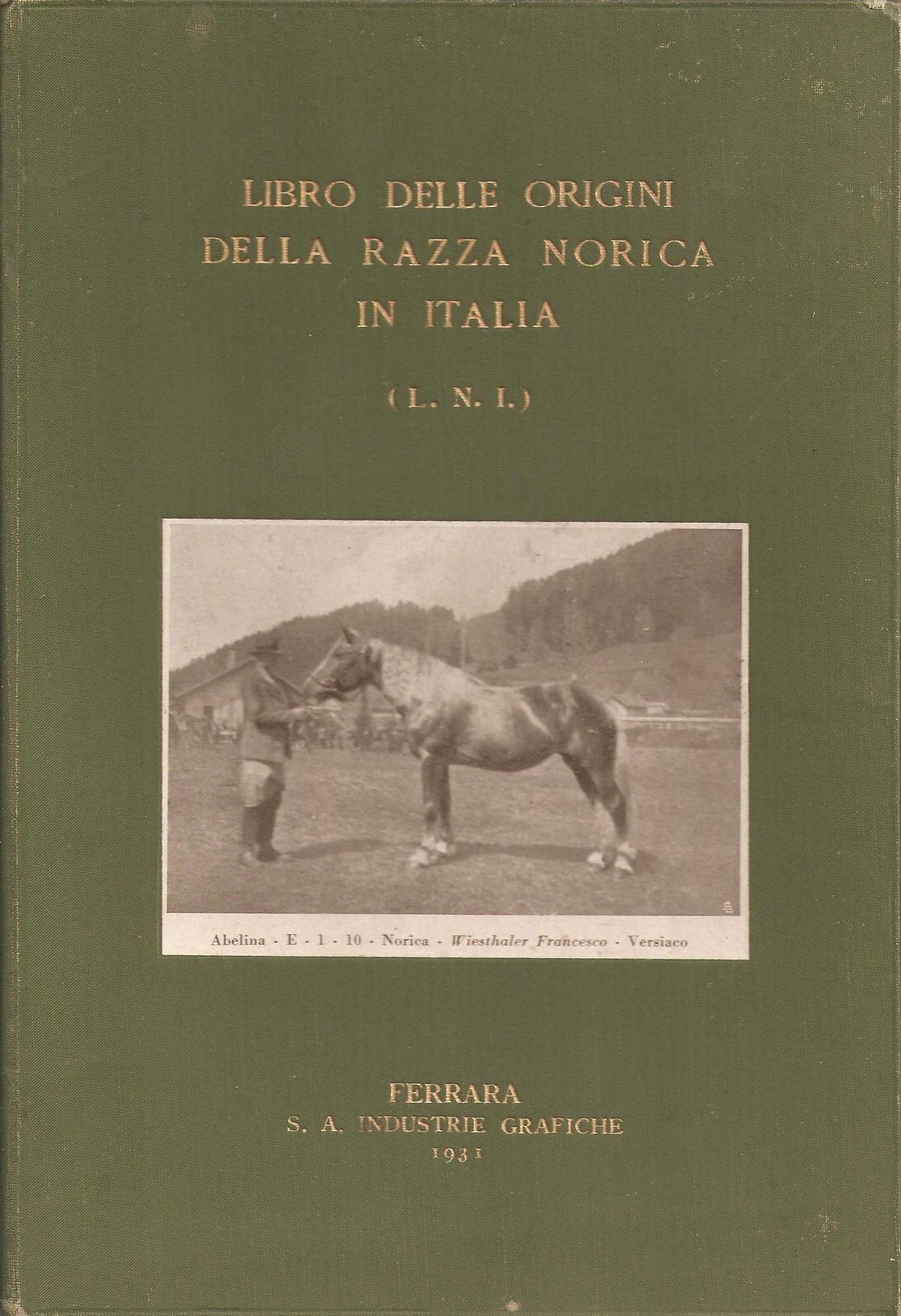 Libro delle Origini della razza Norica in Italia