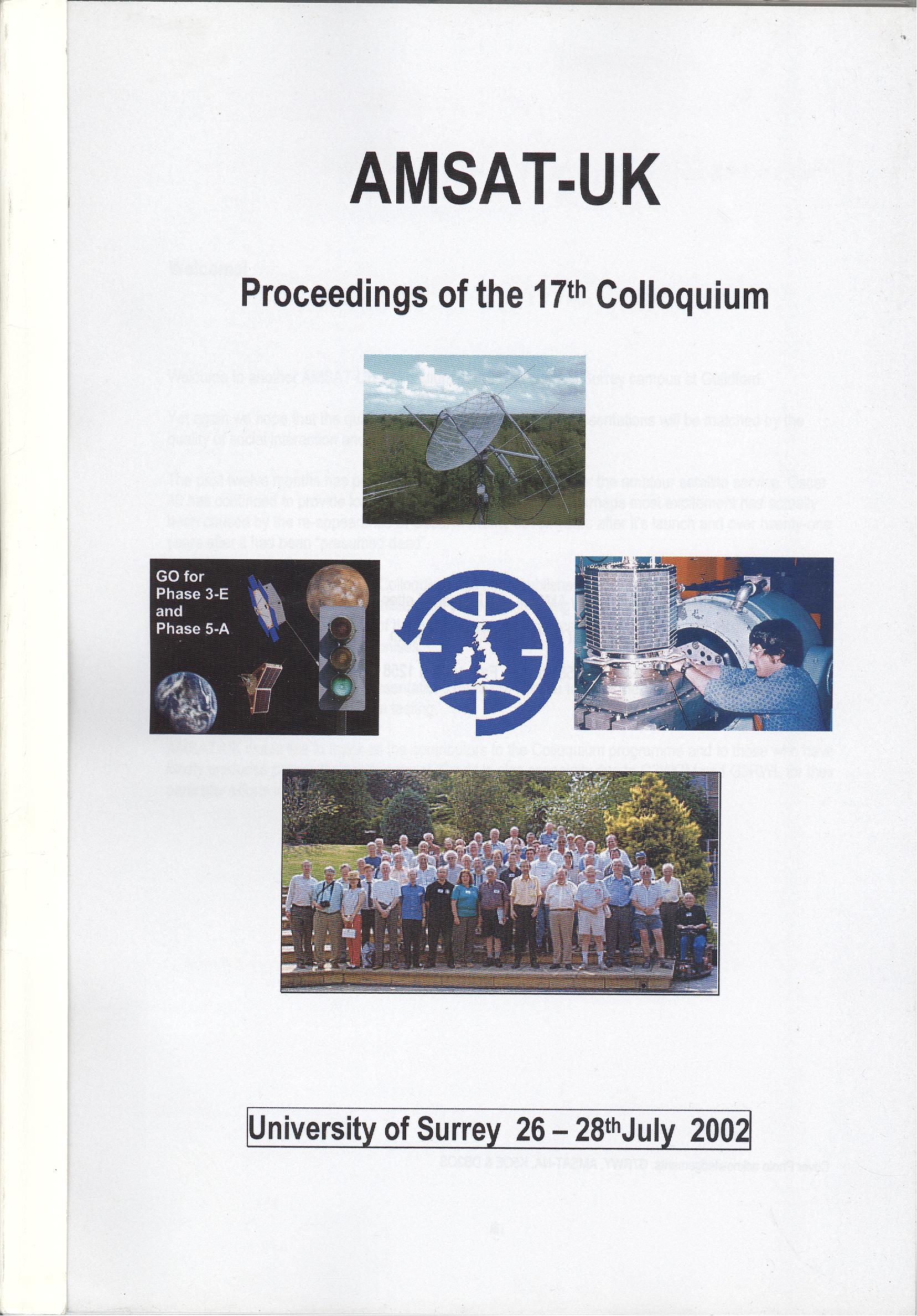 The Proceedings of the 17th AMSAT-UK Colloquium 2002