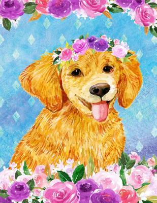 My Big Fat Bullet Journal For Dog Lovers Golden Retriever Puppy In Flowers