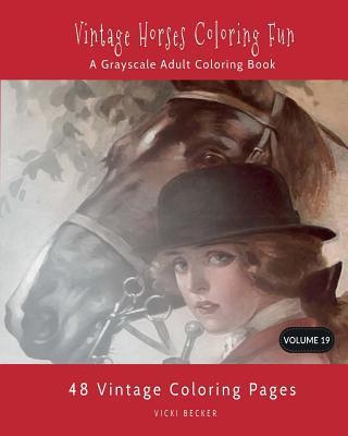 Vintage Horses Coloring Fun