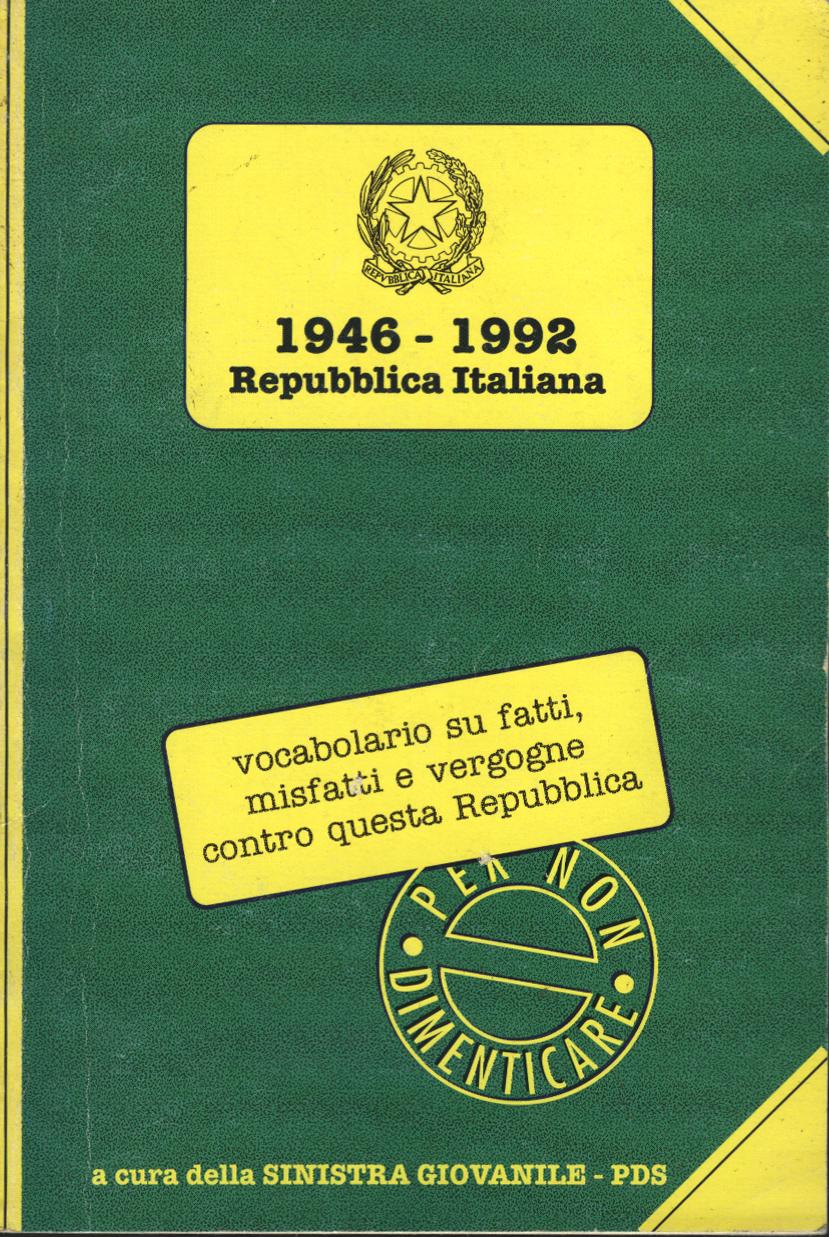 1946-1992 Repubblica...