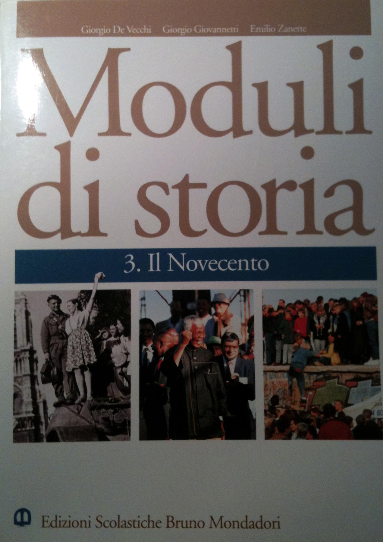 Moduli di storia vol. 3