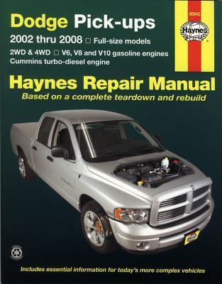 Haynes Repair Manual Dodge Pick-ups, 2002 Thru 2008