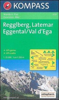 Carta escursionistica n. 630. Gruppo Latemar, Val d'Ega 1