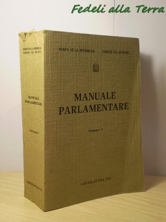 Manuale parlamentare legislatura VII