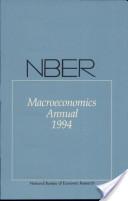NBER Macroeconomics Annual 1994