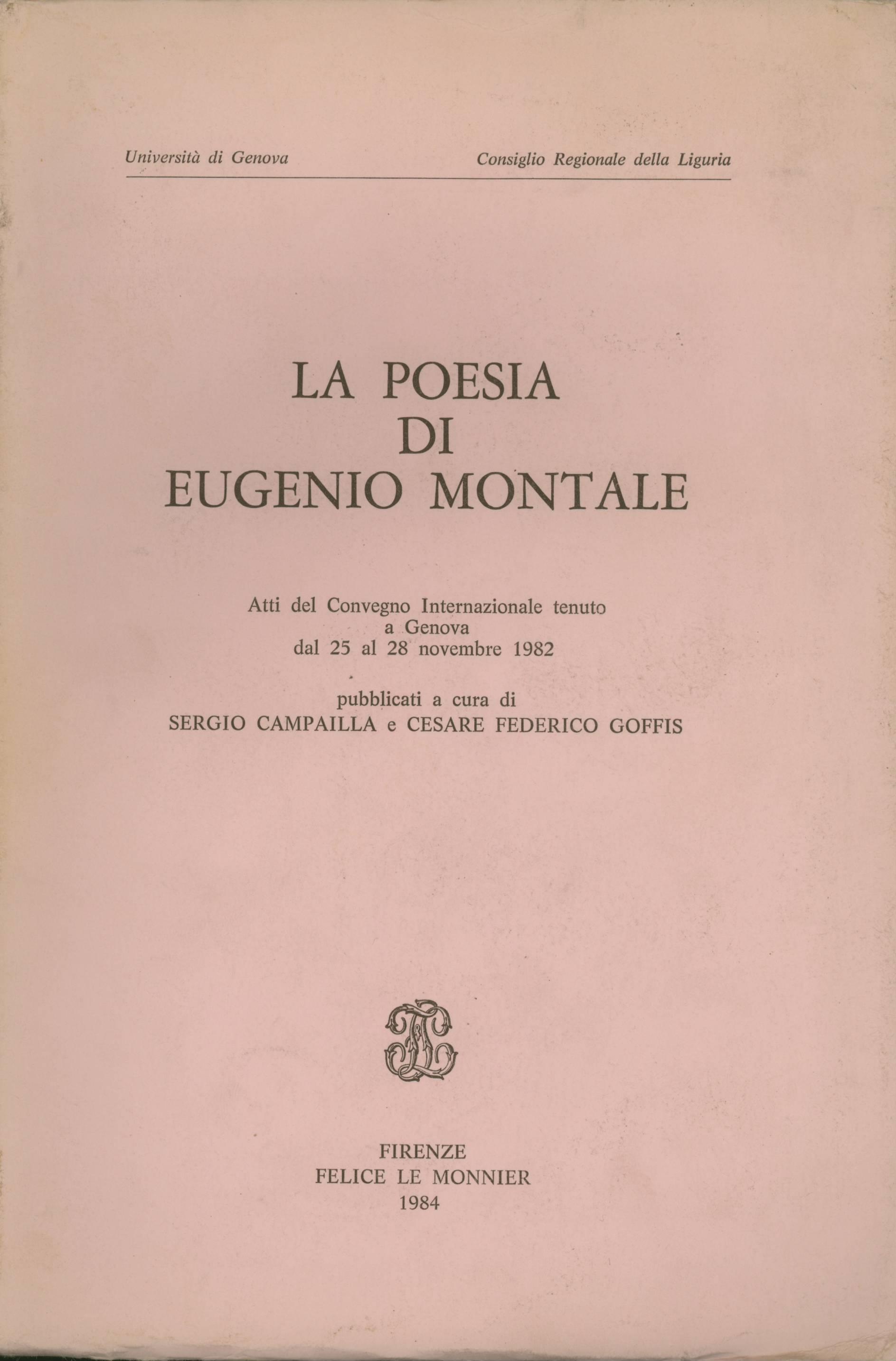 La poesia di Eugenio Montale