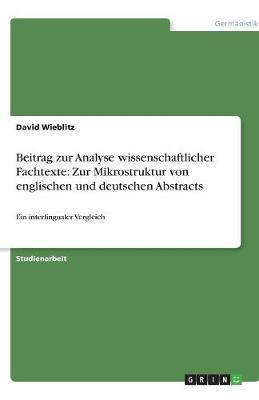 Beitrag zur Analyse wissenschaftlicher Fachtexte