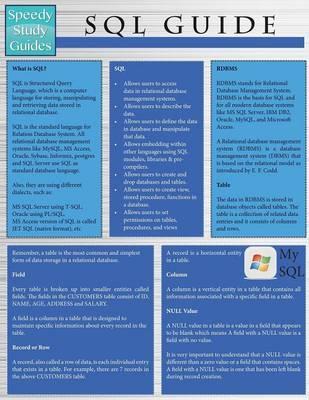 SQL Guide (Speedy Study Guides