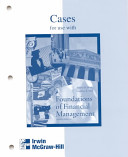Foundations of Financial Management Casebook