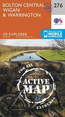 OS Explorer Map Active (276) Bolton, Wigan and Warrington
