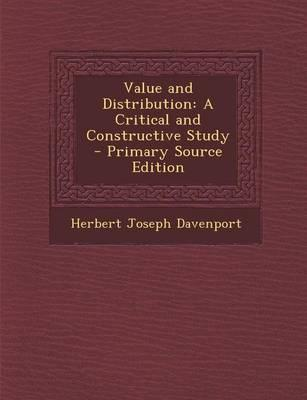 Value and Distribution