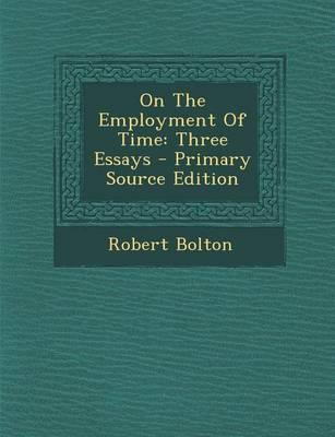 On the Employment of Time