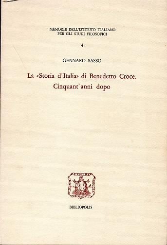 La «Storia d'Italia» di Benedetto Croce