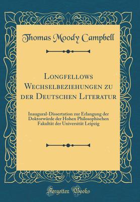 Longfellows Wechselbeziehungen zu der Deutschen Literatur