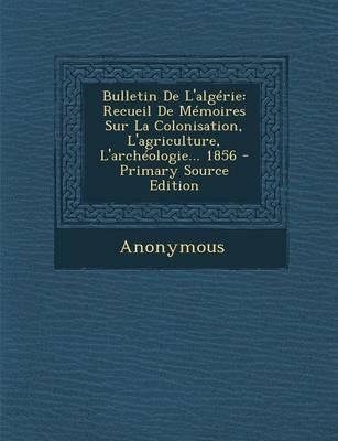 Bulletin de L'Algerie