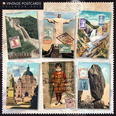 Vintage Postcards 2016 Calendar