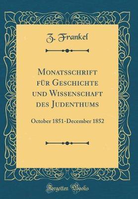 Monatsschrift Für G...