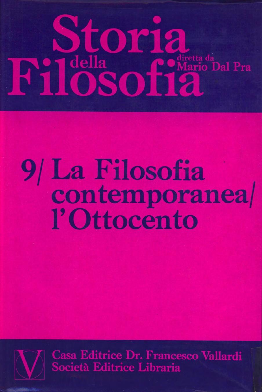 Storia della Filosofia - Volume IX