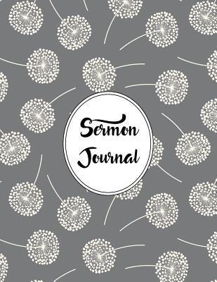 Sermon Journal Notebook Dandelions Pattern 1