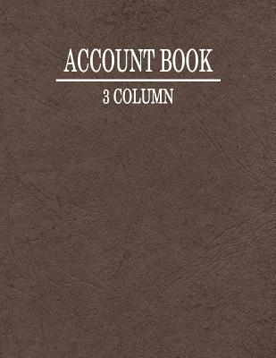 3 Column Account Book