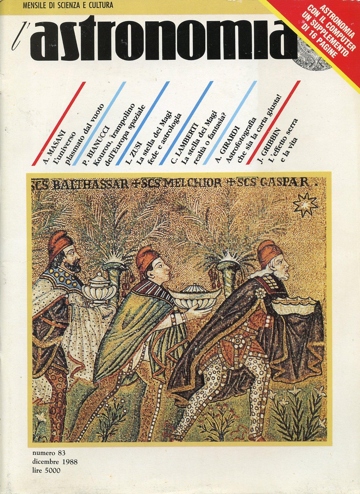 L'Astronomia, Anno X, n.83