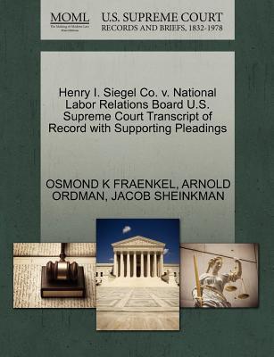 Henry I. Siegel Co. ...