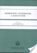 Homenatge universitari a Joan Fuster