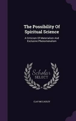 The Possibility of Spiritual Science