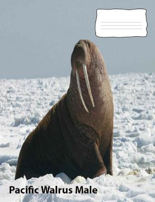Pacific Walrus Male collegeruledlinepaper composition Book