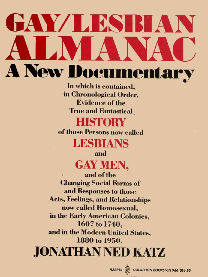 Gay/Lesbian Almanac
