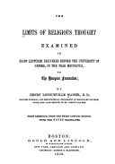 The Limits of Religious Thought