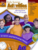 Daily Summer Activities, Moving from Second to Third Grade