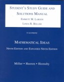 Mathematical Ideas: Study Guide and Solution Manual