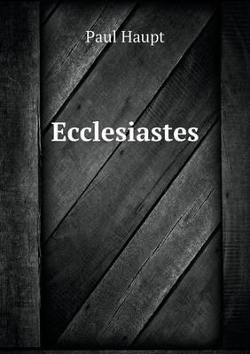Ecclesiastes