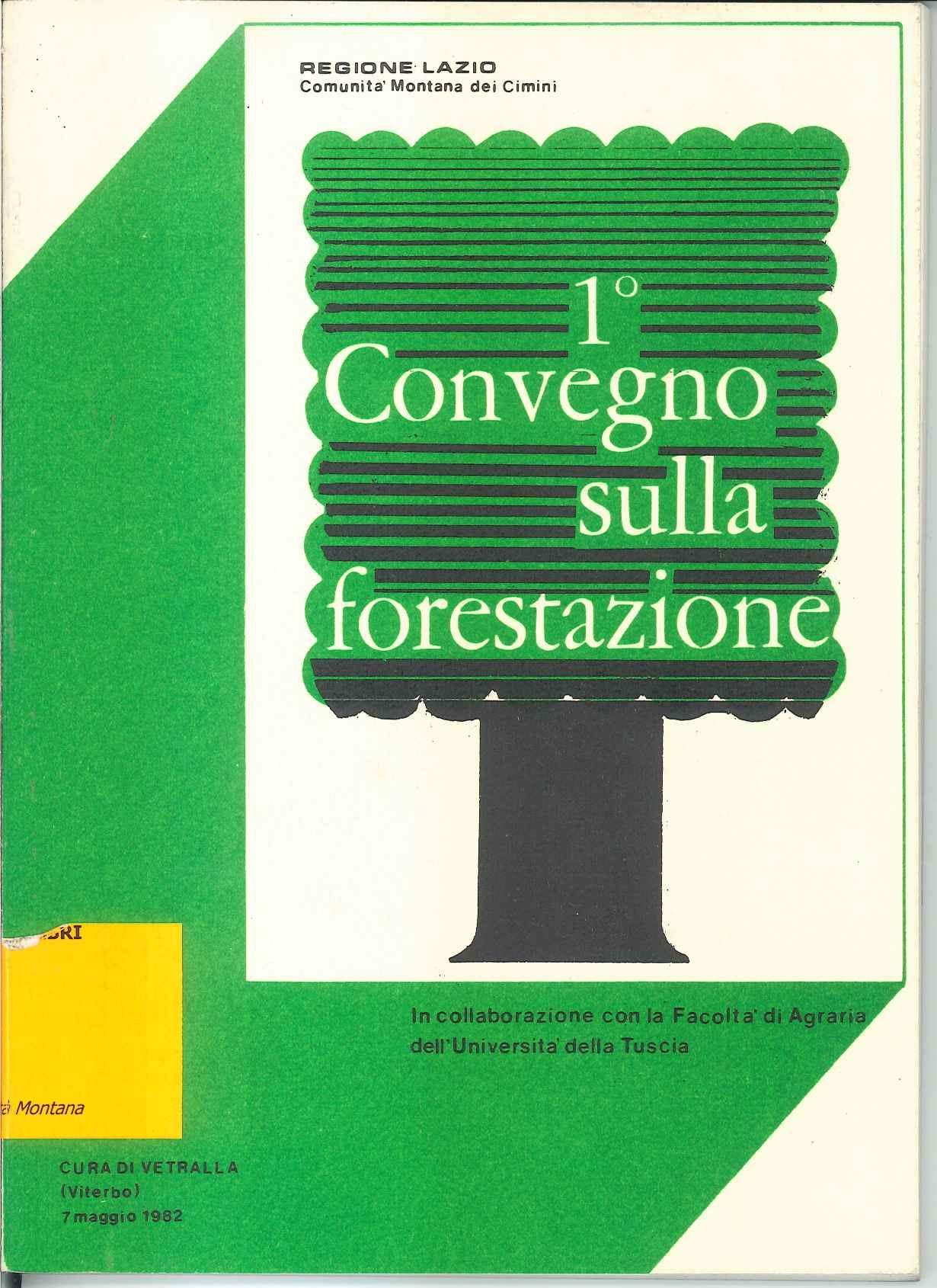 I Convegno sulla forestazione