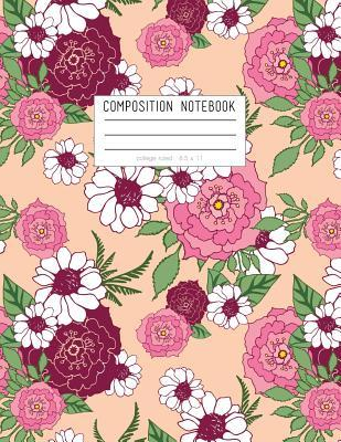 Pink and Peach Floral Composition Notebook