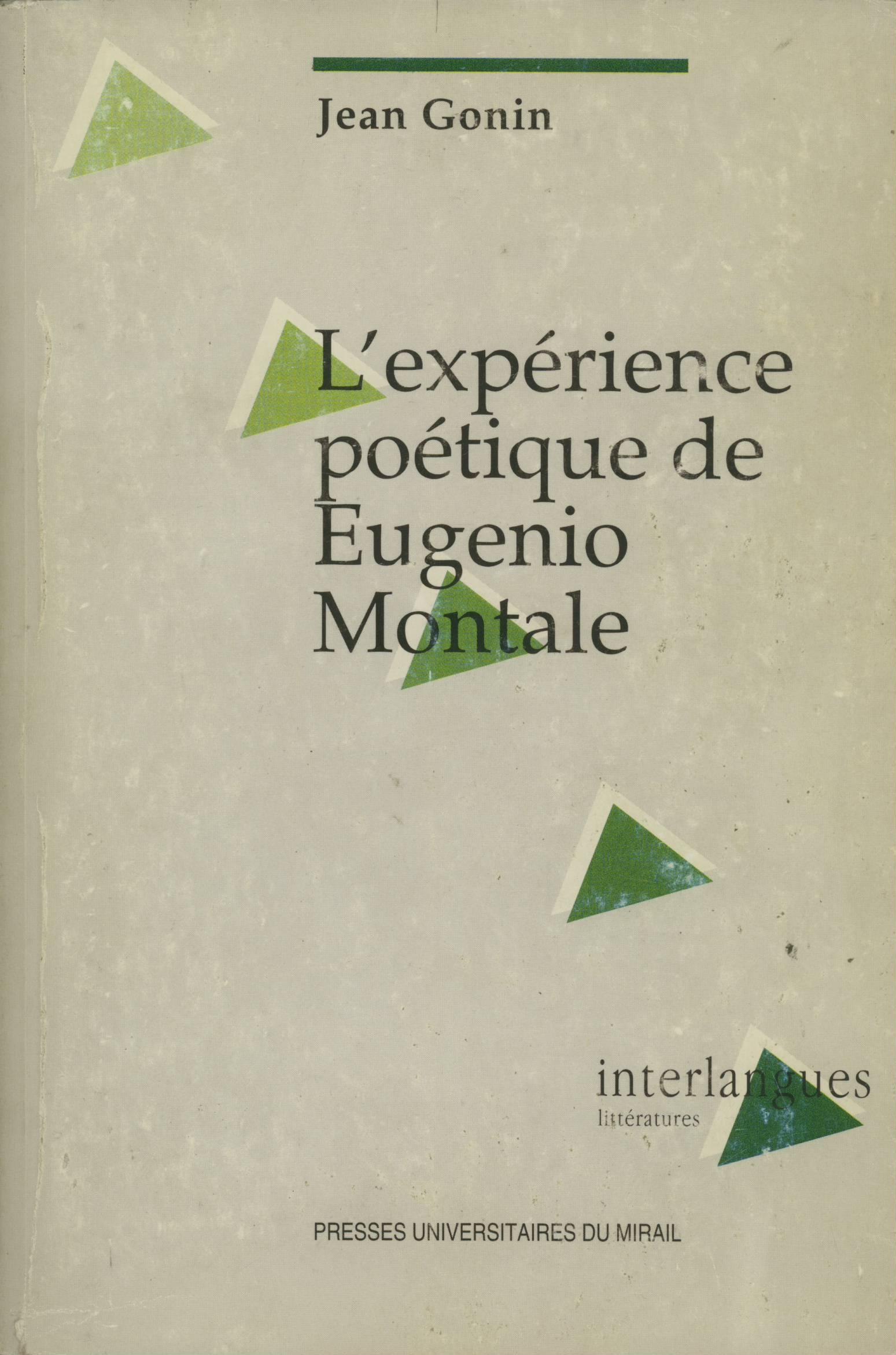 L'expérience poétique de Eugenio Montale