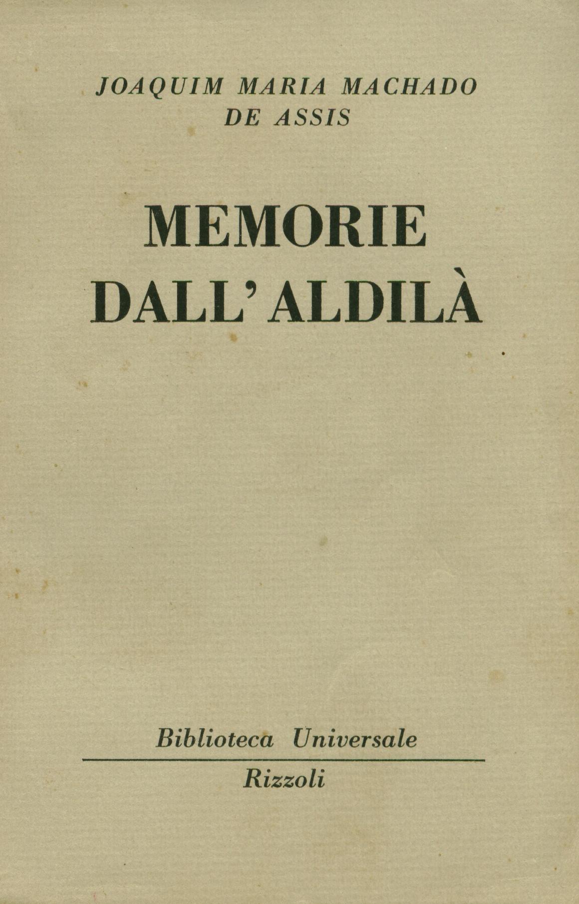 Memorie dall'aldilà