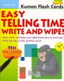 Kumon Flash Cards Easy Telling Time Write and Wipe!