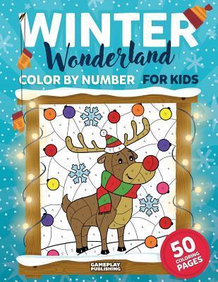Winter Wonderland Color by Number for Kids
