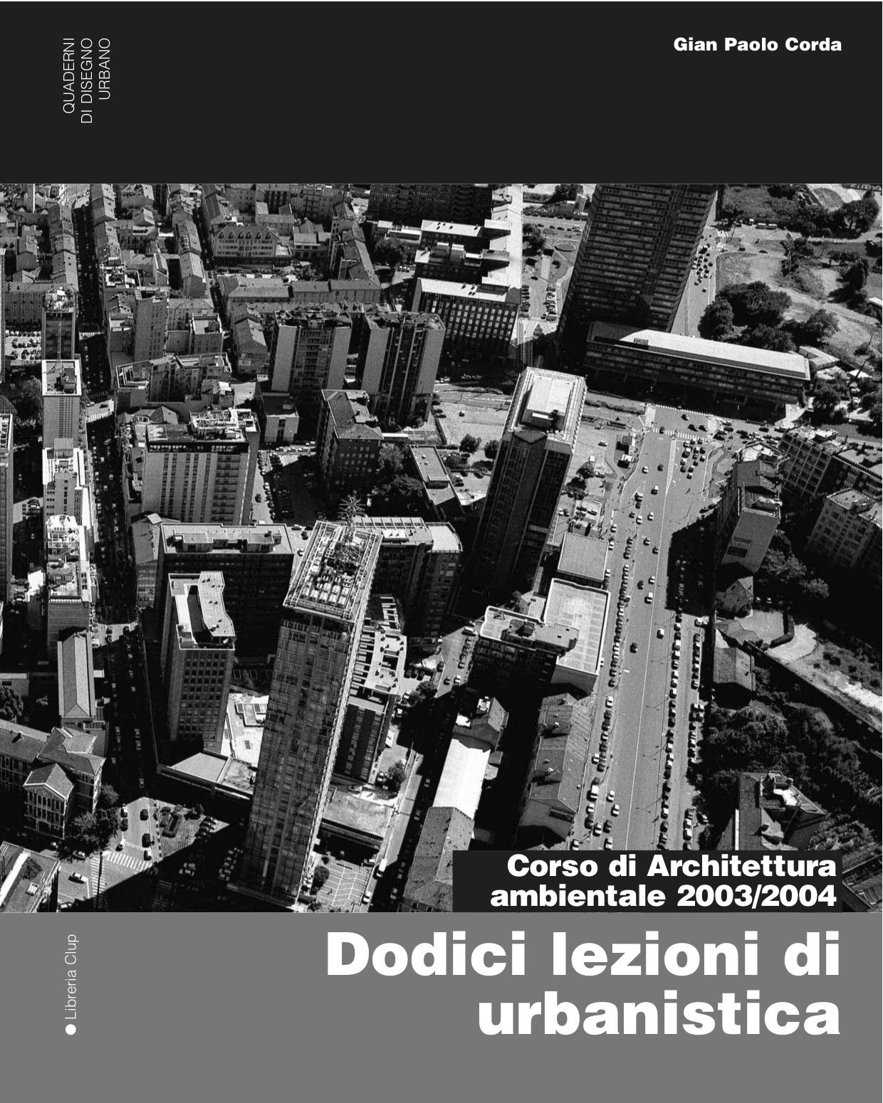 Dodici lezioni di urbanistica