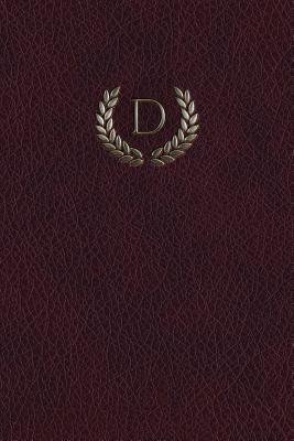 Monogram D Blank Book
