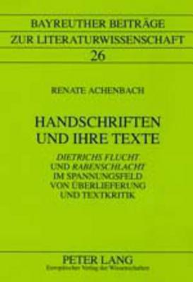 Handschriften und ihre Texte