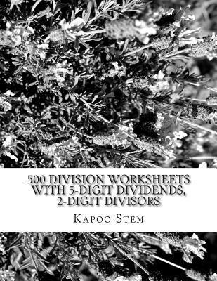 500 Division Worksheets With 5-digit Dividends, 2-digit Divisors