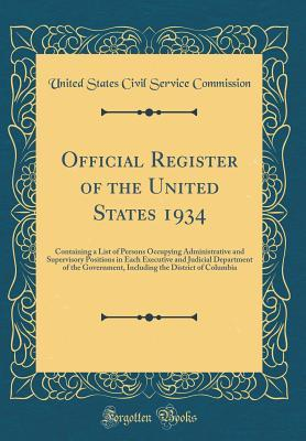 Official Register of the United States 1934